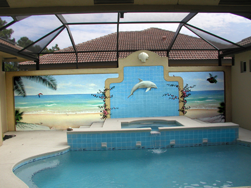 Tropical and beach murals by glenn adkins for A salon solution port st lucie