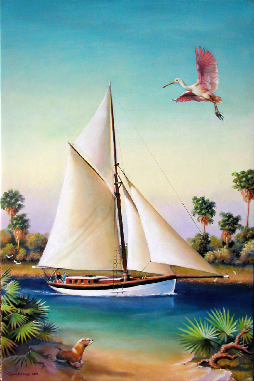 Sailboat by Glenn Adkins